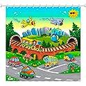 PlayFunLearn Kids Shower Curtain (various)