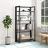 <span class='highlight'><span class='highlight'>BOFENG</span></span> bookcase shelving,Vintage Commercial Bookshelf 4-Tier MDF Board And Heavy Duty Metal Frame As Standing Storage Universal Shelving