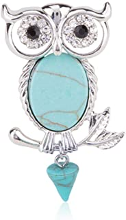 N/W Silver Color Owl Brooch Pin for Women Bird Brooches Gift For Friend