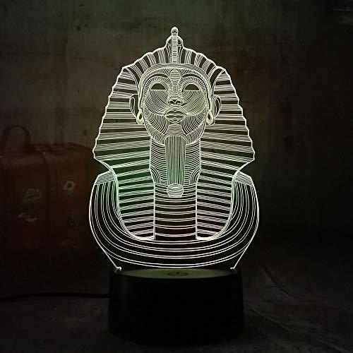 Sanzangtang Led-nachtlampje, 3D-visionzeven, kleuren-afstandsbediening, New Egypt Sphinx nachtlampje, veelkleurig, creatieve kleurverandering, tafellamp, kindergeschenk, decoratie maanlicht, nachtlampje