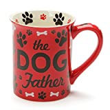 Enesco Our Name Is Mud Dog Father Stoneware Mug, 16 oz, Red,6001229