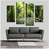Mmdianpu Wandkunst Fallout Die Schöne Tropische Dschungel Wandmalerei Druck Auf Leinwand Für Wohnkultur Gemälde Bilder (40x100cmx2 40x80cmx2 kein Rahmen)