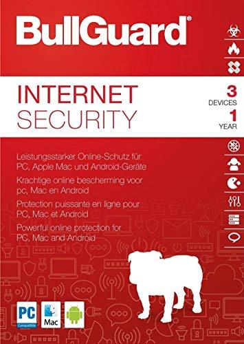 BullGuard Internet Security - 3 Geräte / 1 Jahr   Firewall   Anti-Malware   Jugendschutz   Game Booster   Lizenz - Produkt Key Card