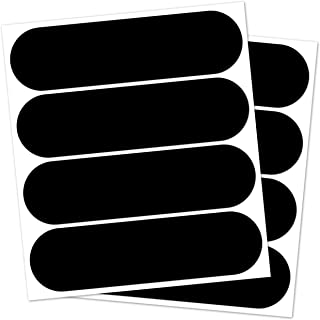 B REFLECTIVE, (2 Pack) 4 retro reflective stickers kit, Night visibility safety, Adhesive for motorbike Helmet/Scooter/Bike/Stroller/Buggy/Toys, 8,5 x 2,3 cm, Black