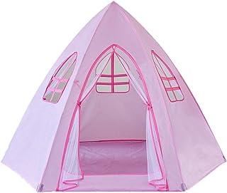 Hopfällbart barntält, tält inomhus hexagonalt tält, utomhus barntält flickor miljöskydd tält hushåll barns tält hus/rosa b...