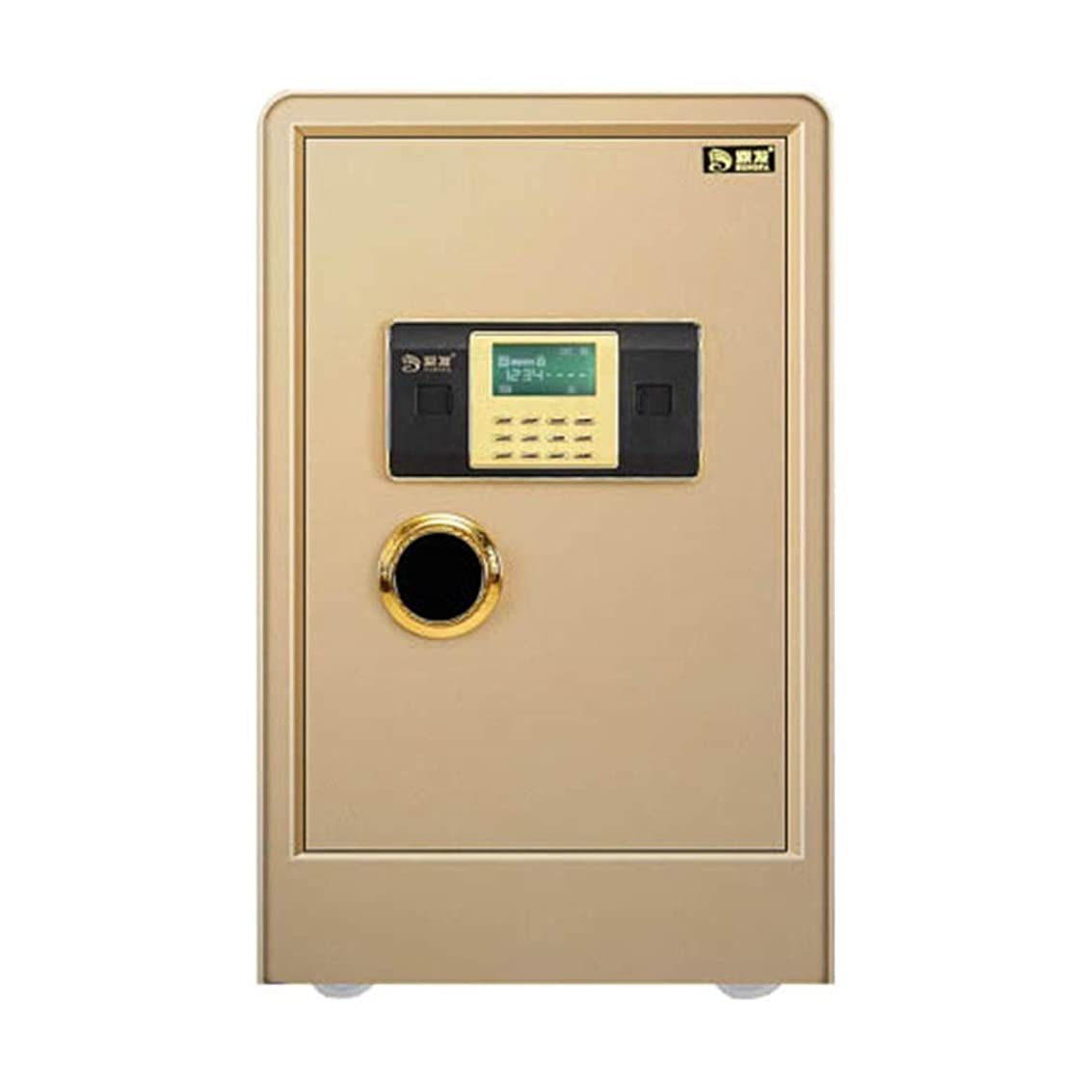 息苦しい推進力パパホーム70センチメートル高い大型金庫盗難防止に壁パスワード金庫のパスワード/指紋 耐火金庫 (Color : Golden, Size : Password)