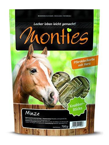 Monties pferdeleckerlis, Menthe Clés, pressée Taille Moyenne env. 4 cm, Stix Clés, 700 g