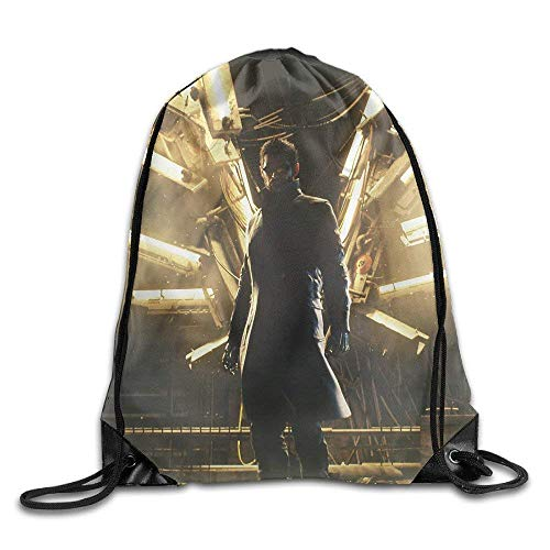huatongxin Deus Ex Mankind Divided Logo Drawstring Backpack Sack Bag