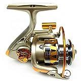 CPCシャピオン 2個釣りリール、12BBボールベアリングメタルヘッド5.2:海タックル/鯉釣り用ホイールを、スピニング1つの速度比