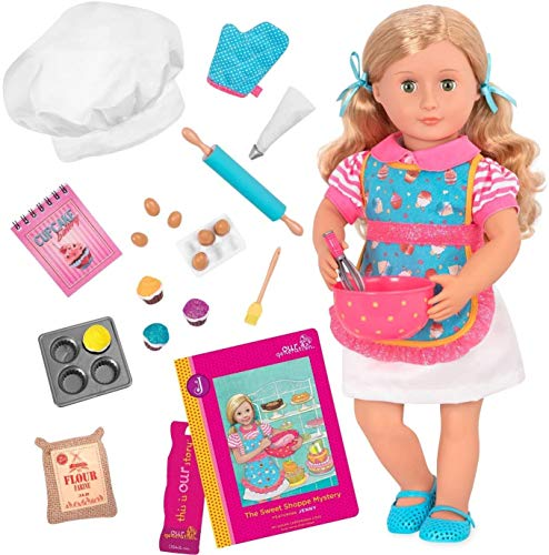 """Our Generation Doll by Battat- Jenny 18"""" Deluxe Posable Baking Fashion Doll- for Girls Aged 3 Years & Up"""