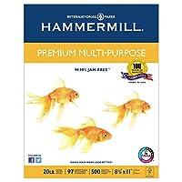 Hammermill 105910プレミアム多目的紙、20-lb。、8–1/ 2x 11、ホワイト、2500/カートン