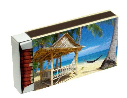 20 Schachteln à 50 Zündhölzer für Grill, Kamin und Kerzen Camino 10 cm (1000 Streichhölzer), Motiv Tropical KM Match Art. 1526/s