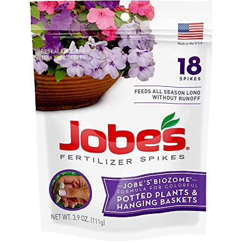 Jobe's Hanging Baskets and Potted Plants Fertilizer Spikes