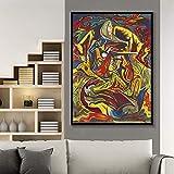 ganlanshu Pintura sin Marco Graffiti Popular Moderno Colorido Abstracto póster y Lienzo impresión decoración del hogar Arte de la Pared decoración ZGQ3685 40X50cm