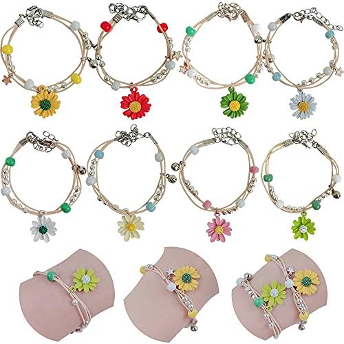 Braccialetti Amicizia,8 Pezzi Braccialetti bambina Braccialetti regolabile Bambini bracciale,Per Coppie Figlie Madre Donne Ragazze Amici Regalo Compleanno