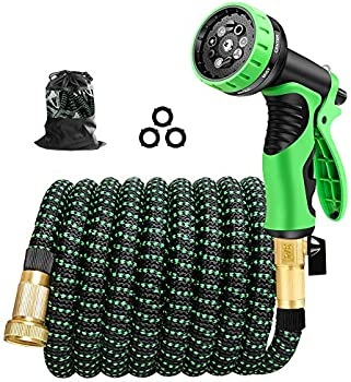 Cootway 50ft Expandable Garden Hose with 9 Pattern Spray Nozzle