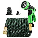 Cootway Expandable Garden Hose 25ft with 9 Function Spray Nozzle