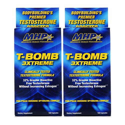 MHP T-Bomb 3XTREME Clinical Strength Testosterone Booster 168 Count x 2 packs