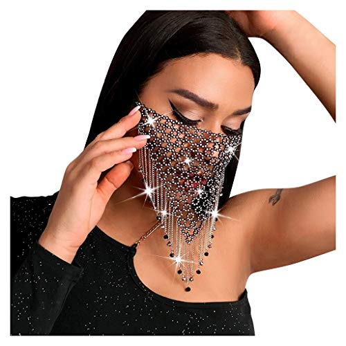 Skryo Mund und Nasenschutz, Mehrfarbiger Diamant Wiederverwendbarer Gesichtsnasenmund Einstellbarer Staubschutz