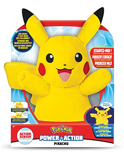Pokémon 35267 Power Action Pikachu - Interactieve Knuffel