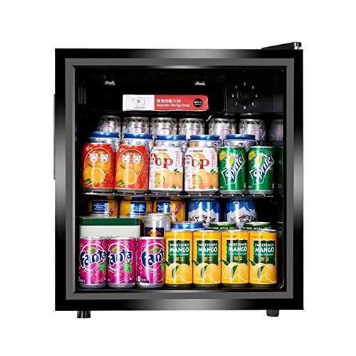 Mini Fridge Black 50L Beer, Wine & Drinks Fridge with LED Light + Lock & Key, Low Energy A+ (Black), Quiet energy efficient and great for fitted kitchens.
