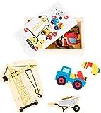 Small Foot 10548Caja de Piezas de Puzzle para puzzeln de Cinco NoProblem (-Obras Dispositivos de Madera, con Diferentes Niveles de dificultad, práctica Caja de Madera la Apto para Transporte es