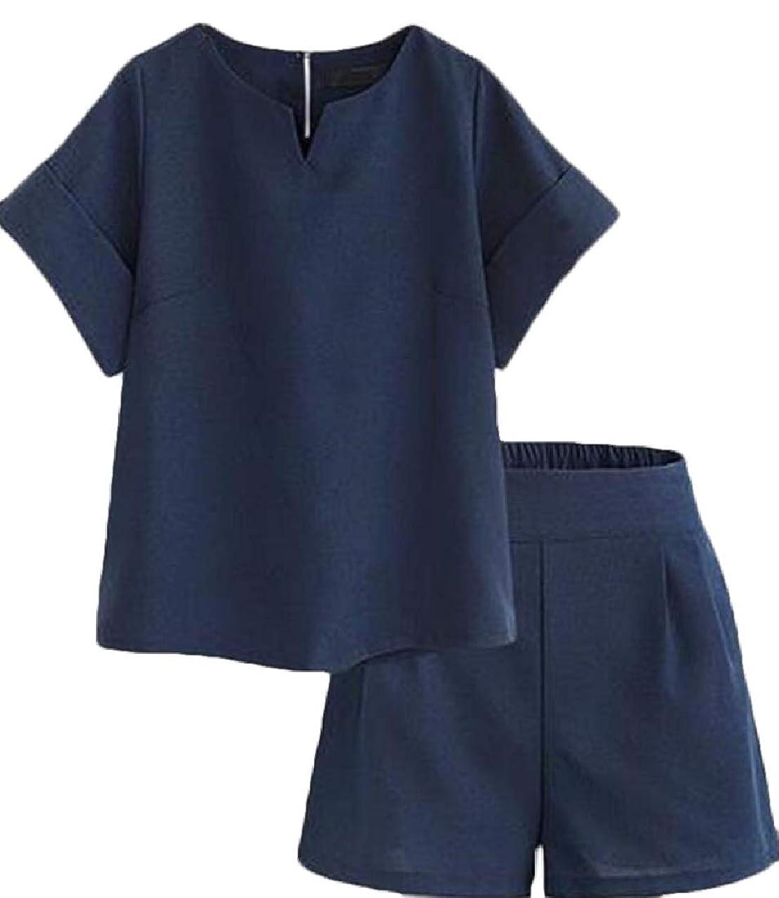 どういたしまして肩をすくめるサーフィンレディース夏半袖シャツとショートパンツカジュアル2ピース衣装