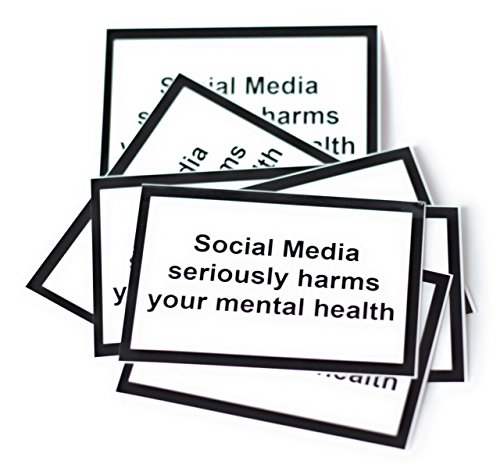 Social Media Seriously Harms Your mental Health-Sticker/Aufkleber DIN A8 (50 Stück)