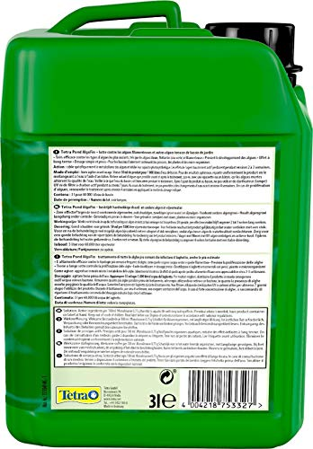 Tetra Pond AlgoFin (zur effektiven und sicheren Vernichtung von hartnäckigen Fadenalgen und anderen Algen im Gartenteich), 3 Liter Flasche - 2