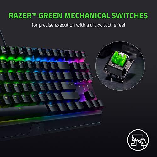 Razer BlackWidow V3 Tenkeyless Mechanische Gaming-Tastatur: Razer Mechanical Switches - Chroma RGB Lighting - Kompakter Formfaktor - Programmierbare Makro-Funktionalität - USB-Passthrough