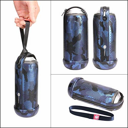 Junsi Portable Travel Zipper Sleeve Pouch Skin Case Cover Bag Fall Abdeckung Hülle for PHILIPS BT6000/BT6000C/BT6000B/BT6000R/BT6000W Bluetooth Speaker(Camouflage Tarnung)