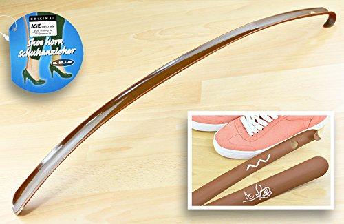 ASIS nettrade schoenlepel - schoenlepel - XXL - bruin - 1 stuk - flexibel - van kunststof - 69,5 cm
