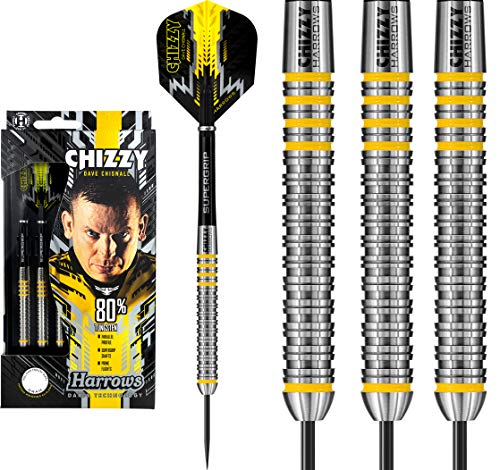 Harrows Dave Chisnall Darts – Stahlspitze – Made in England – Chizzy 80% – 23 g