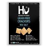 Hu Paleo Vegan Crackers | Sea Salt 2 Pack | Keto Friendly, Gluten Free, Grain Free, Low Carb, No Added Oils, No Refined Starches