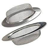 2 Pack 4.5' Kitchen Sink Drain Strainers, Stainless Steel...