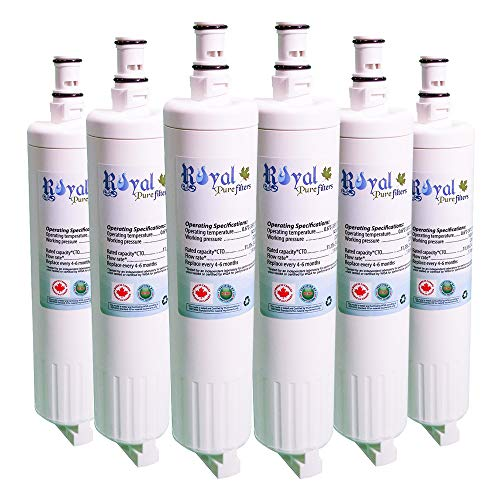 Royal Pure Filters Refrigerator Water Filter For Whirlpool 4396508 4396510 EDR5RXD1, FILTER 5. Made in USA (6 Pack)
