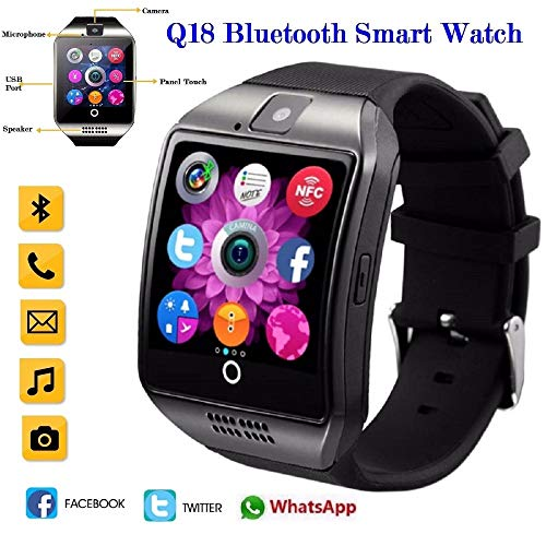 UNIQUS 2019 Hot Q18s Bluetooth Smart Watch Support 2G GSM SIM Card Audio Camera Fitness Tracker Smartwatch for Android iOS Mobile Phone