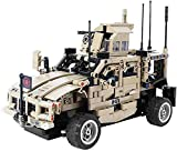 ZAKRLYB 2.4G de cuatro vías coche teledirigido 653PCS Puzzle temprana DIY del vehículo Juguetes Educación Reunidos bloques de construcción militar blindado coche de los niños de cumpleaños de los niño