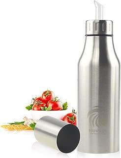 Tutyuity Botella de Aerosol de Acero Inoxidable dispensador de Aerosol de condimento de vinagre de Aceite de Oliva para cocinar en la Barbacoa envase de 500 ml