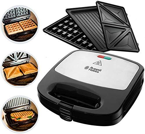 Multifunktionsgerät 3-in-1 Fiesta (Sandwich Maker, Waffeleisen, Kontaktgrill), spülmaschinengeeignete & antihaftbeschichtete Platten