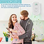 Air purifiers plug in for home, mini odor eliminator丨ozone negative ion dual function丨ionizer to remove smoke pet toilet… 11 🍃2-in-1 pluggable air purifier: cornmi air purifier has a built-in ozone and negative ion generator. Ozone has a strong oxidative decomposition ability, and negative ions can absorb dust. The combination of these two functions can effectively eliminate pet odor, secondhand smoke and kitchen oil fume, allowing you to enjoy natural fresh air at home. 🍃ozone deodorization function: the deodorizer can achieve the purpose of comprehensive and efficient cleaning by short-term releasing low-concentration o₃. O₃ has strong permeability, diffusibility and decomposition ability, which can effectively eliminate harmful substances and smells in the air. 🍃anion purification function: the air ionizer can produce anion, combine with the dust that are positive ions in the air and sink to the ground, avoiding the danger of inhaling floating objects. And achieve the removal of cigarette smoke, oil fumeand other particles matter. Effectivelyrefresh the air and improve the quality of sleep.
