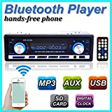 Audew Autoradio Bluetooth Stereo Auto Lettore MP3 ISO FM USB AUX SD (Automobile)