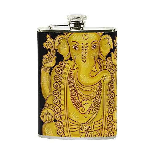 TIZORAX Thailändischer Cartoon Elefant Edelstahl Flachmann, Taschenflagon, Camping Weintopf, Geschenk für Männer oder Frauen, 227 ml