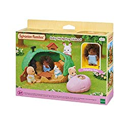 A secret hedgehog motif house for baby figures. Comes with a slepping bag that fits a snugly Hedgehog Baby, a hedgehog-shaped table, and a stove. Hedgehog Baby is poseable. Sylvanian Families miniature dollhouses, playsets and figures are timeless an...