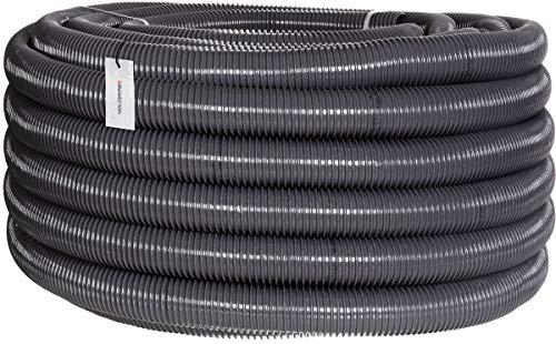 """HOLZBRINK Teichschlauch 40 mm (1 1/2"""") Spiralschlauch PVC Saugschlauch verstärkt, Länge: 5 m, HVS-05-5"""