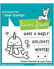 """Lawn Fawn Lawn Fawn Clear Stamps 3""""X2"""" LF2038 Winter Narwhal"""