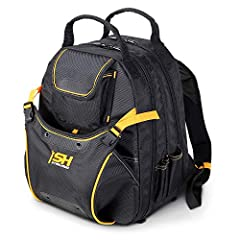 [OPTIMIZIED TO GET THE JOB DONE] – Tough, rugged, heavy-duty tool backpack for all trades – Electricians, Plumbing, HVAC, Contractors and more. [48 TOTAL POCKETS, DUAL-ZIPPER COMPARTMENTS] – Store it all, from big to small. Features pockets for pens,...