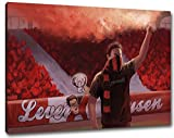 Ultras Leverkusen Format: 60x40, Bild auf Leinwand XL,