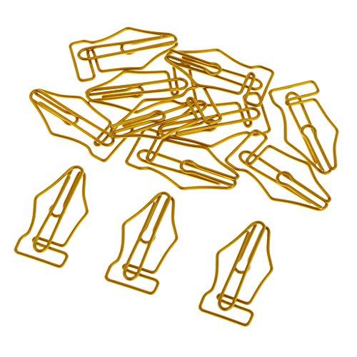 SDENSHI 12 Piezas Tipo Punta de Bolígrafo Clip de Papel Marcador de Libro Lindo Organizador de Documentos-oficina