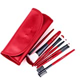 qingtang37 Makeup Brush Sets Multifunctional Beauty Tools Fiber Bristles Super Soft and Antibacterial Synthetic 7 Pcs